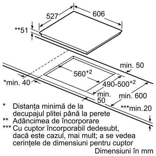 Plita vitroceramica cu inductie - Bosch - PXY675DW4E